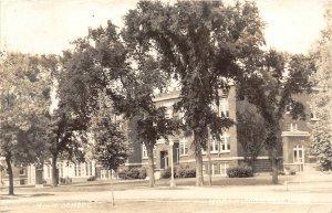 G33/ Northwood Iowa RPPC Postcard 1946 High School Building