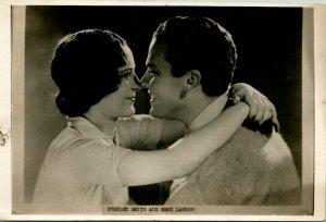 Vtg Carte Postale Cppr 1930s STANLEY Smith & Mary Lanlor En  Good News  Film