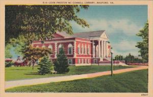 Virginia Radford John Preston Mc Connell Library
