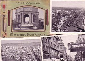 18 Miniature Post Cards of San Francisco, California in Envelope, 1934