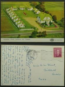 Balmoral Court Fairville NB Postmarked Saint John 1952