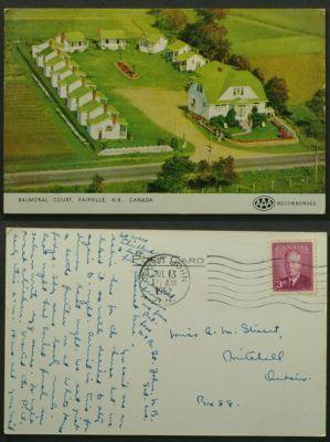 Balmoral Court Fairville NB Postmarked Saint John 1952