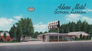 DOTHAN, Alabama, 1950-1960s ; Adams Motel