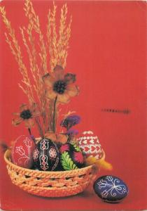 Penciled Easter eggs patterns ornament greetings postcard