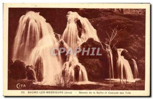 Old Postcard Baume Les Messieurs Jura source of the Seille and Cascade Tufs