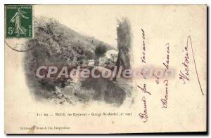 Postcard Old GORGE SAINT ANDRE around NICE