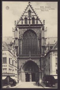Entrance to Cathedral,Antwerp,Belgium Postcard