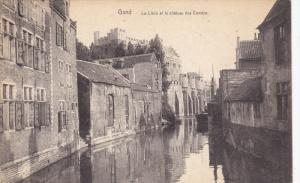 GAND, East Flanders, Belgium, 1900-1910's; La Lleve Et Le Chateau Des Comtes