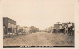 LPS60 Solomon Kansas Main Street looking West Town View Postcard RPPC