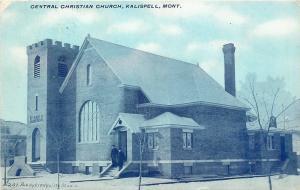 Kalispell Montana~Central Christian Church~1910 PC