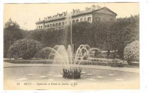 Esplanade et Palais De Justice, Water Fountain, Metz (Moselle), France, 1900-...