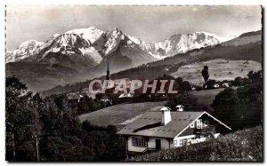 Combloux Old Postcard and Mont Blanc