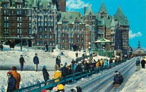 Canada Postcard Quebec The toboggan slide on Dufferin Terrace