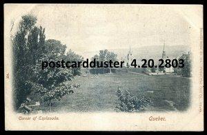 2803 - QUEBEC CITY Postcard 1900s Corner of Esplanade by Hartmann