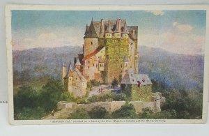 Schloss Elz River Moselle Germany Vintage Postcard