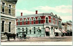 Beloit, Kansas Postcard MAIN STREET Downtown Scene Bank Building c1910s Unused