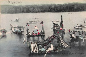 Carnival: Lake Huntington, Sullivan County, N.Y., Early Postcard, Used in 1908