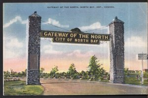 Ontario Gateway of the North NORTH BAY by Valentine-Black Co. - LINEN