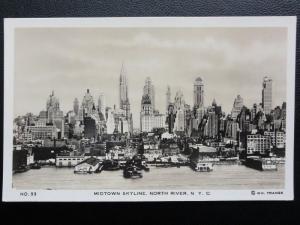 Vintage PC - Midtown Skyline. North River, N. Y. C. - (New York City)