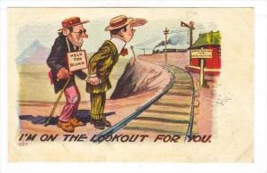 Comic: Help the Blind   I'm on the Lookout for you , PU-1908 Train crossing