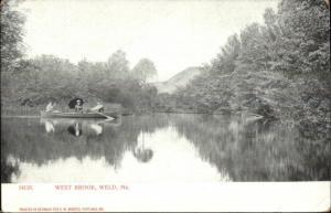Weld ME West Brook Boating c1905 Postcard