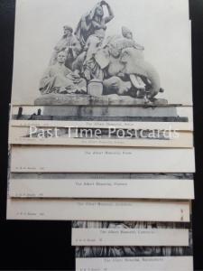 c1907 - The Albert Memorial (Set of 8 Postcards) Asia, Africa, Europe, Poets etc