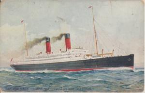 London United Kingdom - CUNARD R.M.S. Carmania converted for WWI  1900s