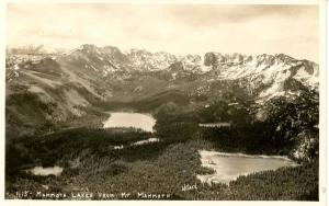 CA - Mammoth Lakes from Mt. Mammoth    *RPPC