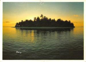 Maldives Island Sunset Landscape