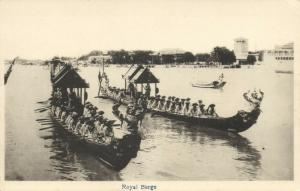 siam thailand, Royal Barge Procession during Reign King Rama VI Vajiravudh 1920s