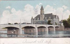 Main Street Bridge Steel High School And Soldiers Monument 1906