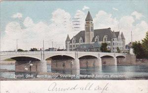Main Street Bridge Steel High School And Soldiers Monument 1906