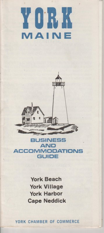 York, Maine Business And Accommodations Guide Chamber Of Commerce 1940s?