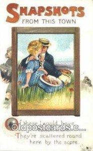Artist Signed Misc 1925 light wear postal stain right bottom edge, postal use...