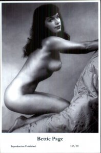Actress Swiftsure 2000 Postcard PINUP PIN-UP BETTIE PAGE 333/58