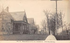 Grayslake Illinois~Westerfield Place~Residence of AW Thomson~Homes~~1909 RPPC