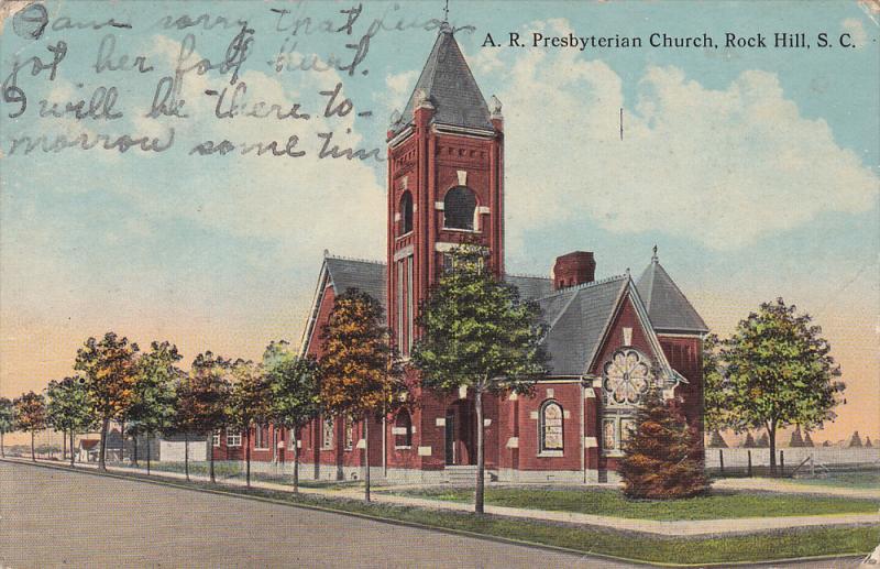ROCK Hill , South Carolina , PU-1915 ; A.R. Presbyterian Church