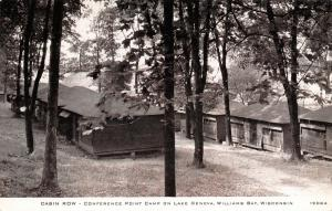 Lake Geneva~Williams Bay~Conference Point Camp~Cabin Row~1950s CR Childs #19084