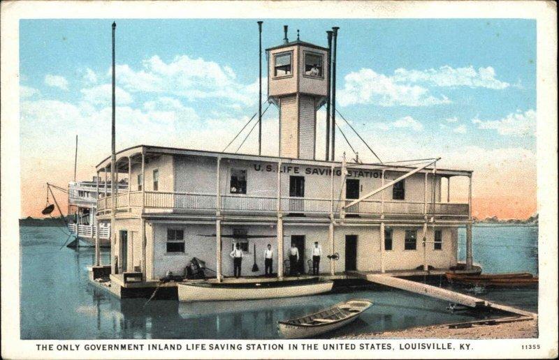 LOUISVILLE KY Inland Life Saving Station c1920 Postcard
