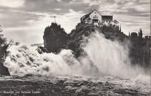 Switzerland, Suisse, Rheinfall und Schloss Laufen, 1963 used real photo Postcard