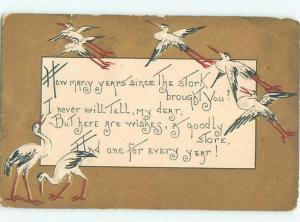 Divided-Back BIRDS SCENE Pretty Postcard AA8923