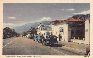 Palm Springs Hotel, Palm Springs, California, early linen postcard, used in 1946