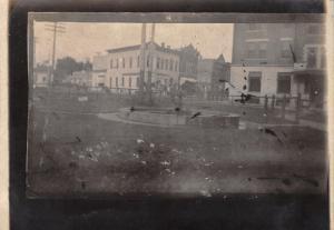 Cherokee IA RPPC Photo of My Own Making~Railroad Depot Park~1909 Wyse of Wayland