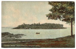 Camden, Maine, Negro Island from Dillingham's Point