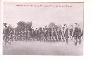 Premier Borden Reviewing Over-Seas Forces at Niagara Camp, Ontario, Army