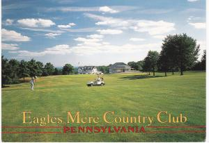 Post Card United States Pennsylvania Eagles Mere Country Club