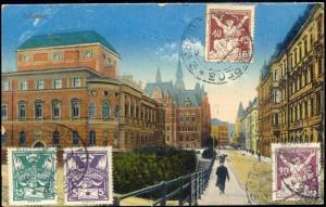 czech, LIBEREC, Street Scene (1924) Stamps