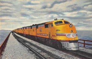 Union Pacific Streamliner Train City of San Francisco Salt Lake Postcard AA1834