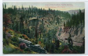 Southern Pacific Railroad Loop Siskiyou Mountains Oregon 1910c postcard