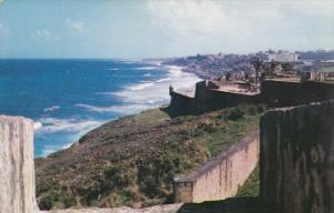 View from the Ramparts of the Old Spanish Fort, El Morro, Fort San Cristobal,...